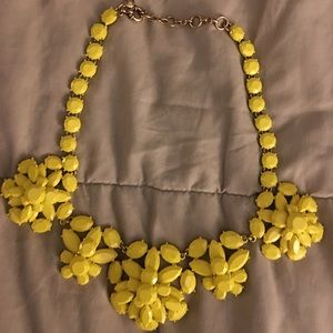 Jcrew yellow crystal necklace