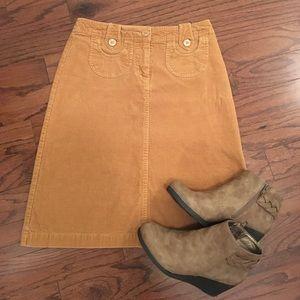 Tan H&M corduroy skirt Size 4