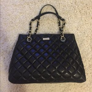 NWT Kate Spade black quilted chain tote