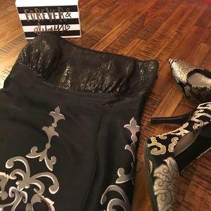 White House Black Market Strapless Top w/Sequins