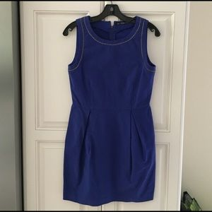 Zara blue dress with chain detail