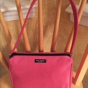 Authentic Kate spade pink nylon bag.
