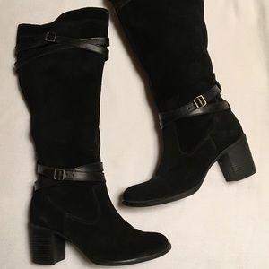 Kellie & Katy Black Suede Darla-KK Boot sz 8