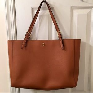 Tory Burch Brown Leather York Buckle Tote