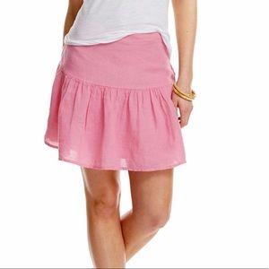 vineyard vines cute pink linen skirt