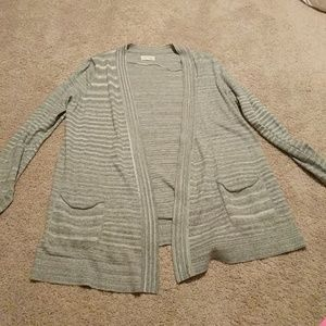 Lou and Grey gray open cardigan