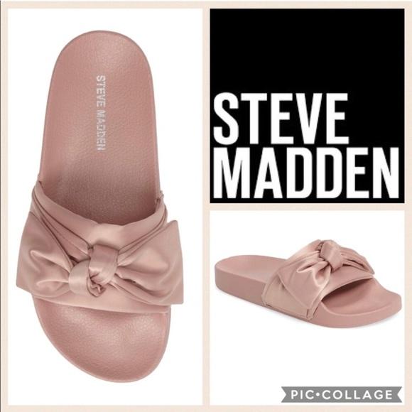d356c4d9834 🎀Steve Madden Silky Slides {Blush Pink Satin} 7