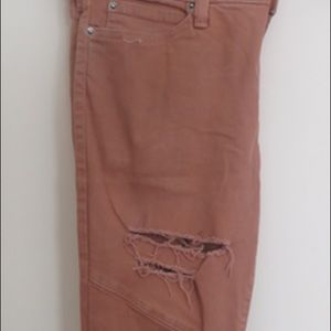 Distressed Khaki Pants