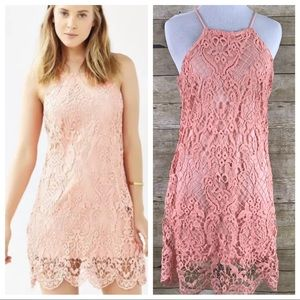 Urban Outfitters Kimchi Blue Coral Lace Dress SZ S