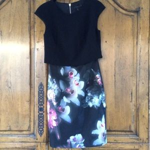 Ted Baker Black Ethereal Layer Dress!
