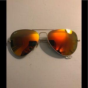 Ray-Ban Aviators flash lenses