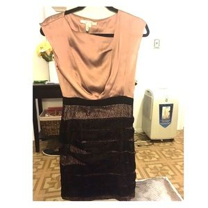 Max and Cleo pink silk and Lace dress 2
