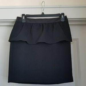 LOFT Peplum Black Skirt, 4P