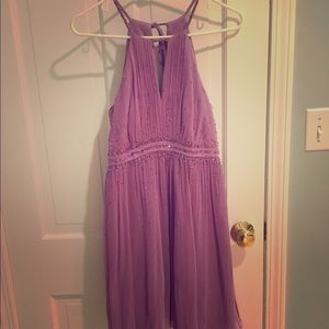 BCBG purple beaded dress