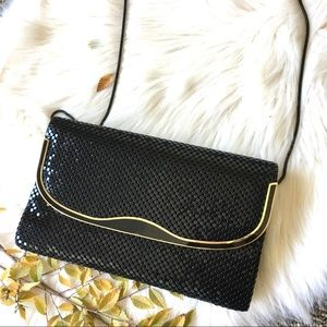 vintage black & gold sequin bag