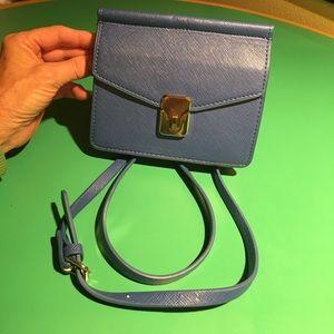 Zara Blue & Gold Crossbody Handbag