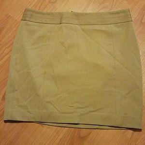 Express heavy weight tan skirt