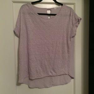 light grey/purple tshirt