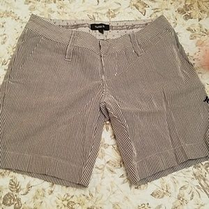 Hurley grey striped shorts