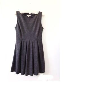 NWOT Monteau LA Grey Skater Sleeveless Mini Dress