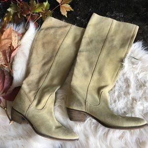 sage green suede boots