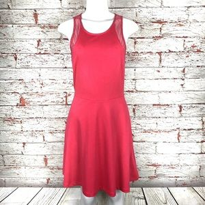 H&M Dress Sz Small Sleeveless Fit Flare Red