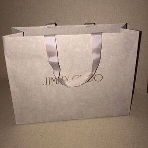 Jimmy Choo collectible shopping bag distressed
