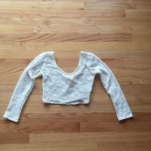 LA hearts mesh crop top