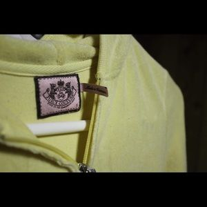 Juicy Couture Size Small Yellow Velour Jacket
