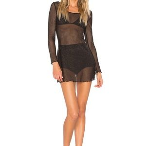 For Love and Lemons Sparkle Mesh Dress// Size S