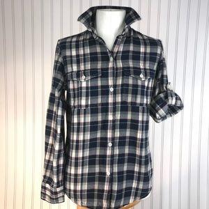 Ralph Lauren Button Down Flannel Plaid Shirt Sz S
