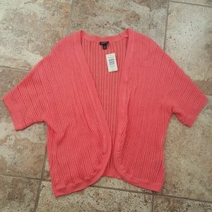 NWT Torrid Knitted Coral Cardigan