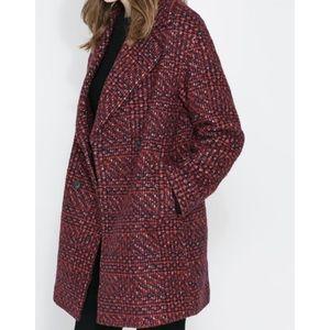 Zara Tweed Pea coat