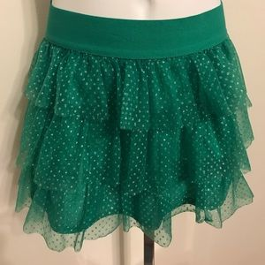 Other - Girls Ruffle Green Skirt