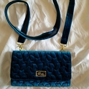 NWT, Teal Velvet Crossbody