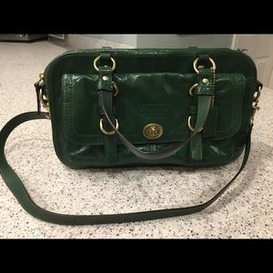Coach Kelly Green Chelsea Handbag w/gold Hardware