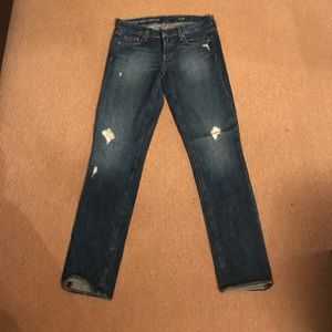 Distressed vintage matchstick denim from J. Crew
