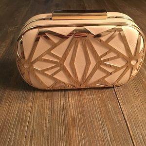 Aldo Nude/Gold Clutch purse