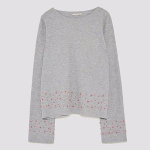 Zara Sweater with Pink Pearls