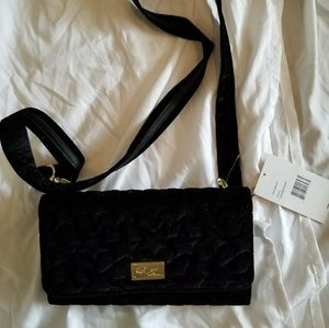 NWT, Black Velvet Crossbody