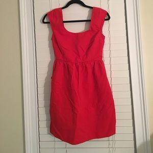 Red American Eagle dress with bow detail