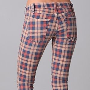 Current Elliott Stiletto plaid jeans size 31 NWT