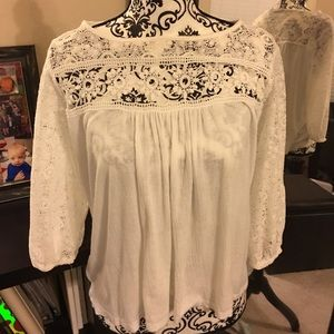 Beautiful white and lace tunic