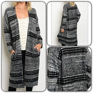 Sweaters - Chic Warm & Cozy Long Cardigan Sweater SML