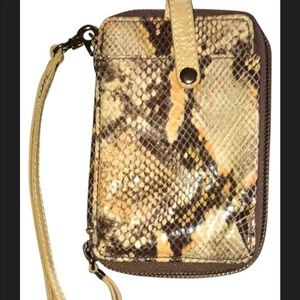New Elliot Lucca 100% leather wristlet/wallet