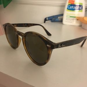 Ray-Ban round turtle shell glasses