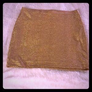 Gold Short Skirt
