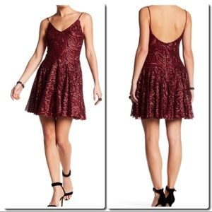 Betsey Johnson Red Sequin Dress
