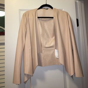 Zara leather cardigan