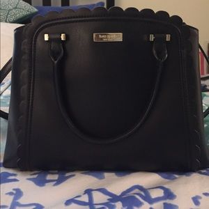 Kate Spade Black Scalloped Linzi Maple Court Bag